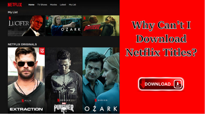 cannot download netflix titles