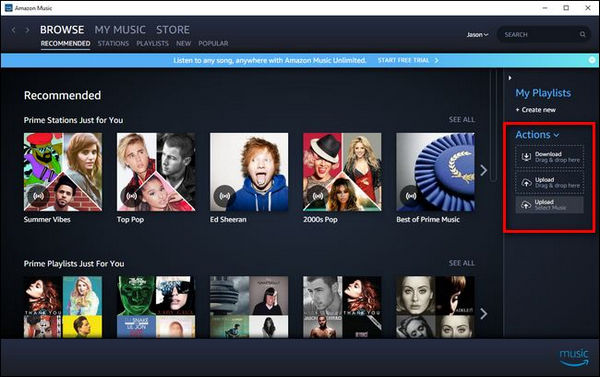 upload music to amazon music