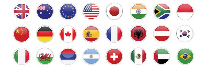 Languages flags icon